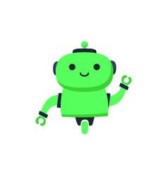 robot logo design robot logo design vector image