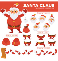 Santa clause character constructor with spare body vector