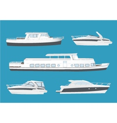 Set of boats and ships vector image