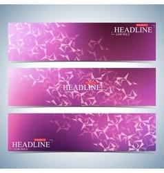 Set of polygonal horizontal backgrounds Molecule vector image