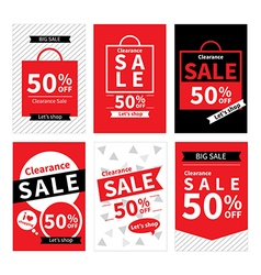 Set of sale website banner templates vector