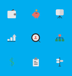 Set of simple business icons vector