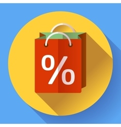 shopping bag Icon Flat design style vector image