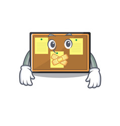 Silent toy bulletin board on cartoon vector