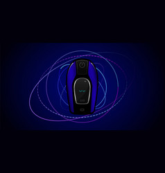 smart remote control vector image