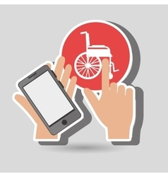Smartphone service medical icon vector