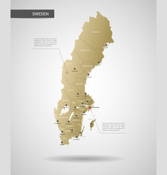 stylized sweden map vector image