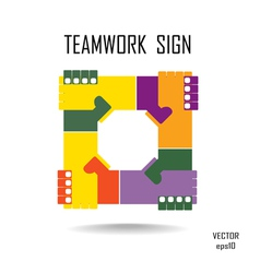 teamwork sign vector image