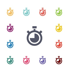 timer flat icons set vector image