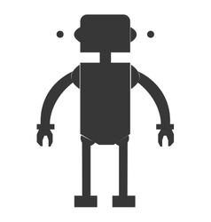 toy robot silhouette icon vector image