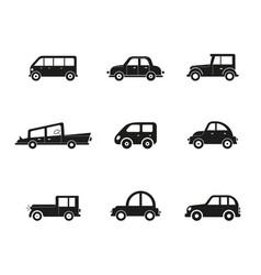 transportation vehicle public cars taxi city vector image