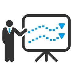 Trends Presentation Icon vector