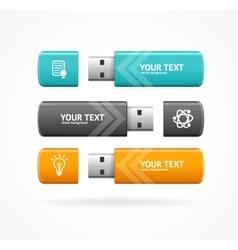 USB Flash Option Banner vector image