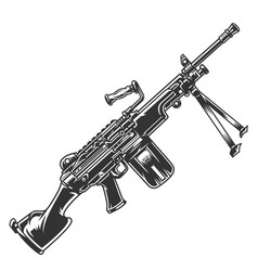Vintage modern automatic rifle concept vector