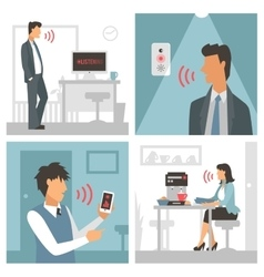 Voice control Smart computer vector image