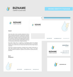 Water drop with current business letterhead vector