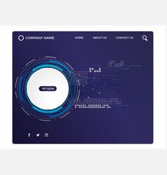 web page design templates vector image