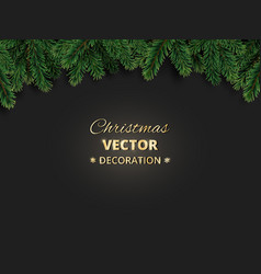 Winter holiday background with christmas tree vector