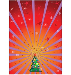 xmas background with rays vector image