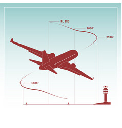 aircraft climbs after take off vector image vector image