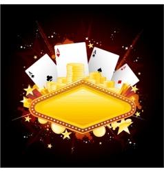 casino sign vector image