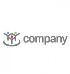 human logo for social fund vector image