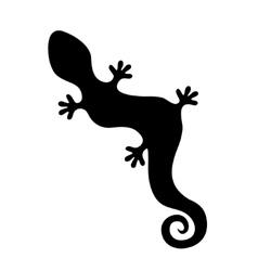lizard silhouette vector image vector image