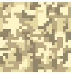 Pixel camo seamless pattern Brown desert or vector image vector image
