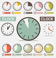 Retro Clock - Time Countdown Set vector image vector image