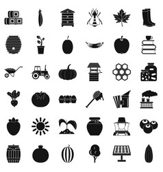 good vitamin icons set simple style vector image