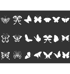 white butterfly silhouettes vector image vector image