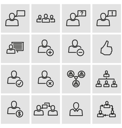 line office people icon set vector image vector image