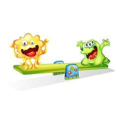 Monsters playing vector image