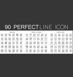 90 outline mini concept infographic symbol icons vector