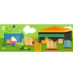 Delivery shipping concept vector image vector image