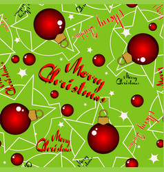 seamless green christmas background vector image