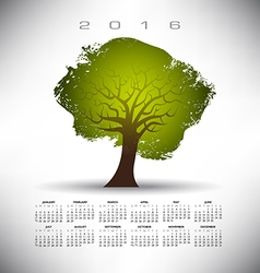 2016 Rough Texture Tree calendar vector