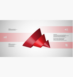 3d infographic template with cone sliced to five vector
