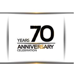 70 years anniversary black color simple design vector