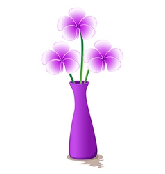 A lavender vase with flowers vector