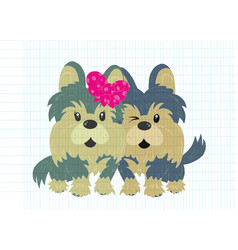 A lover dogs standing vector