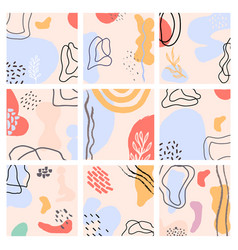 abstract backgrounds set hand drawn modern trendy vector image