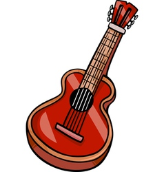 acoustic guitar cartoon clip art vector image