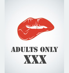 Adults only sign xxx sign on white background vector