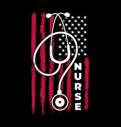 american nurse shirt american flag nurse vector image