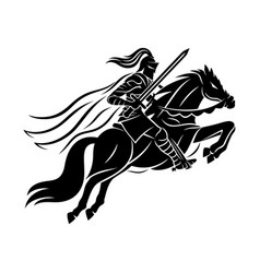 ancient warrior on horseback vector image