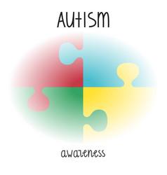 Autism awareness print vector