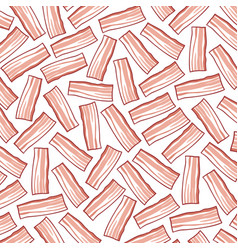 background pattern with bacon vector image