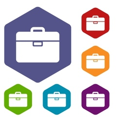 Bag rhombus icons vector image