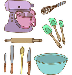 Baking items vector image